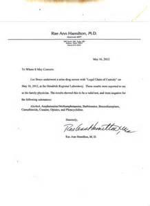 Break Up Letter To Drugs Sheriff Bruce Releases Negative Drug Test Results
