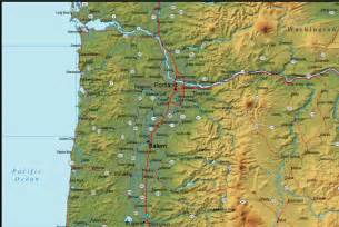 oregon geography map oregon geographical map