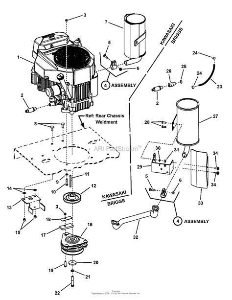 kawasaki lawn mower engine parts diagrams snapper pro 7085672 czt19480kwv 19hp kawasaki w 48