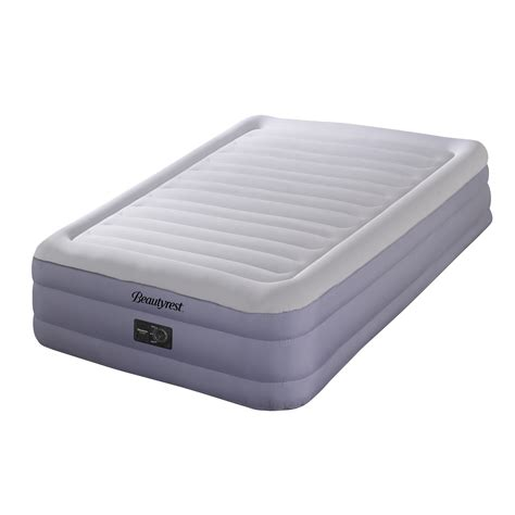 simmons beautyrest raised airbed mattress with memory foam pillow bundle walmart
