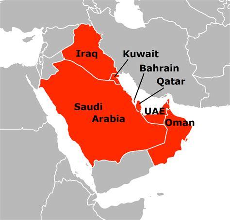 map of gulf coast states file arab gulf states png