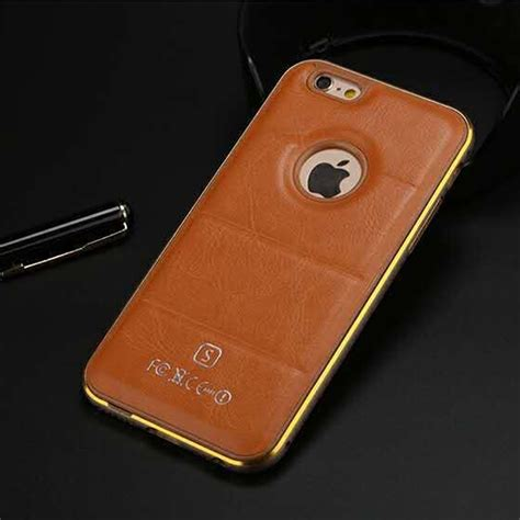Casing Leather Back Cover Iphone 5 5s D luxury aluminum metal frame leather back cover for iphone 5s 6 plus galaxy ebay