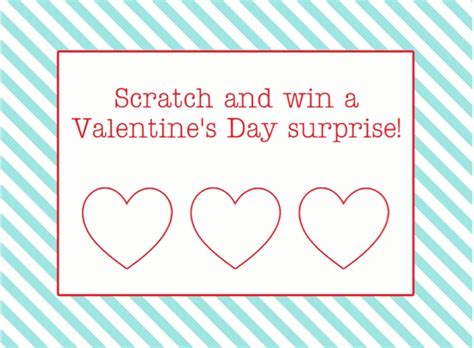 diy scratch off valentines for kids and adults the