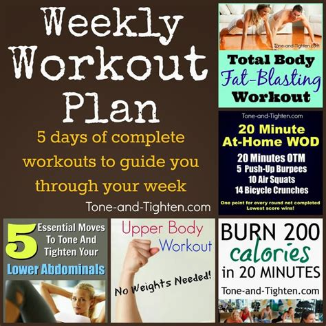 best 25 5 day workout plan ideas on weekly
