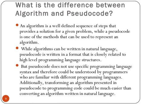what is the difference between pseudocode and flowchart 3 algorithm and flowchart