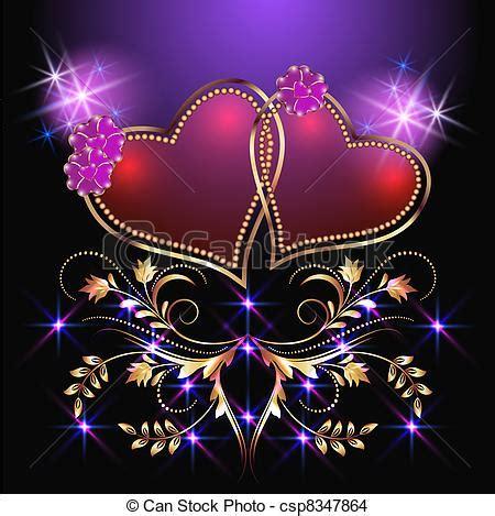 imagenes de corazones y estrellas brillantes eps vector de decorativo corazones estrellas tarjeta