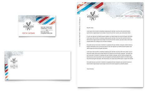 Barbershop Business Card Letterhead Template Design Letterhead And Business Card Templates
