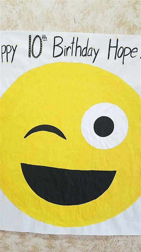 pin  tongue   emoji game emoji birthday party emoji birthday tea party