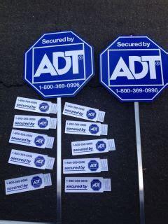 adt brinks guardian home security sign w 3 window door