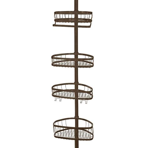 bathtub caddy home depot interdesign york 5 to 9 ft tension pole shower caddy in