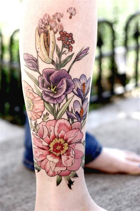alice kendall tattoo flower by kendall skin ink