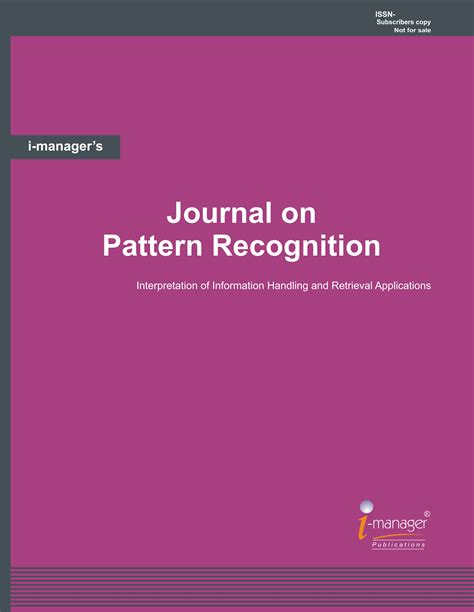 Journal Of Pattern Recognition | journal on pattern recognition