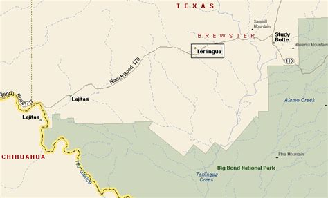 where is terlingua texas on a map terlingua texas map my