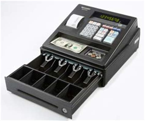 small business cash drawer sharp xea107 entry level cash register with