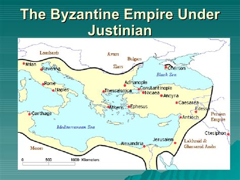 The Byzantine Empire Russia And Eastern Europe Outline Map by The Byzantine Empire