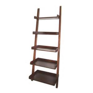 shelving at lowes real organized walnut 5 tier ladder book shelf at lowe s
