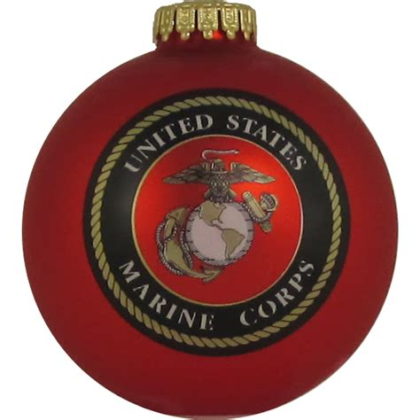 shop red shiny marines ornament at lowes com
