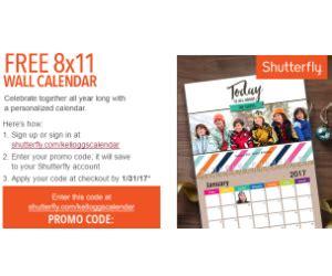 Calendar Coupon Code Shutterfly Free Shutterfly Calendar With Kellogg S Family Rewards