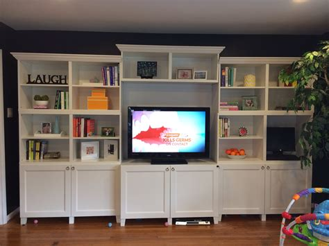 ikea entertainment center hack ikea besta built in bookshelves plus added crown molding