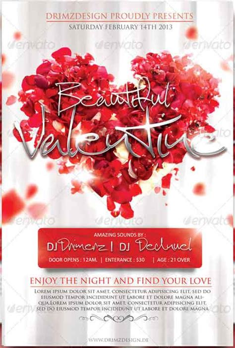 free valentines day flyer templates 20 valentines flyer template collection graphic