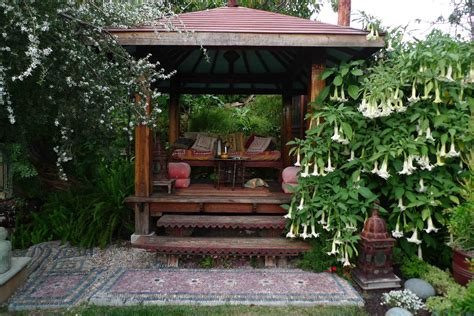 backyard tea house jeffrey bale s world of gardens the sunken garden los