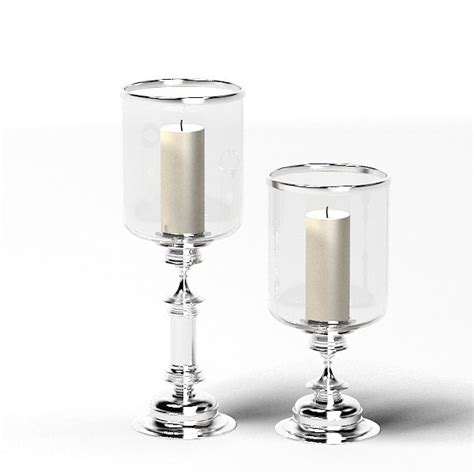 Chrome Candlestick Holders 3ds Glass Chrome Candle