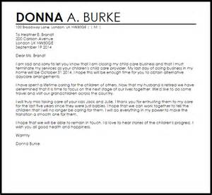 Business Letter Format In Care Of Child Care Termination Letter Termination Letters