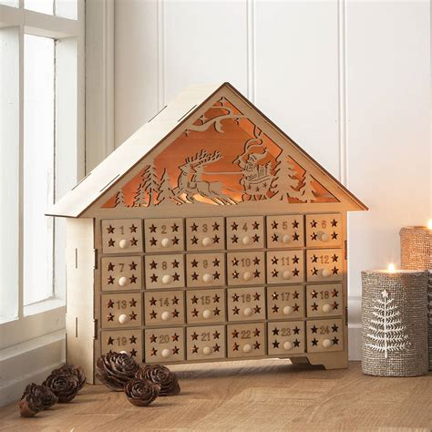 Wooden Advent Calendar House by Wooden Advent Calendar Uk Calendar Template 2016