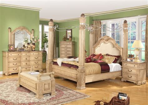 canopy bedroom set royale light poster traditional canopy bed leather