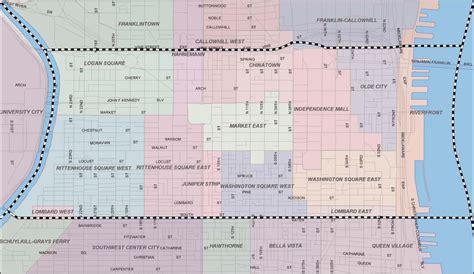 sections of philly philadelphia neighborhood map map of philadelphia
