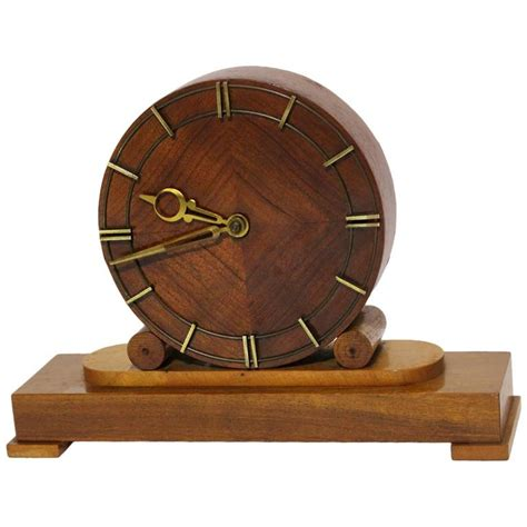 Mid Century Modern Desk Clock Austrian Mid Century Modern Fireplace Clock 1948 For Sale At 1stdibs