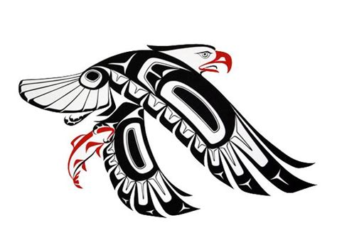 west coast native tattoo designs eagle prints glen rabena northwest coast artist