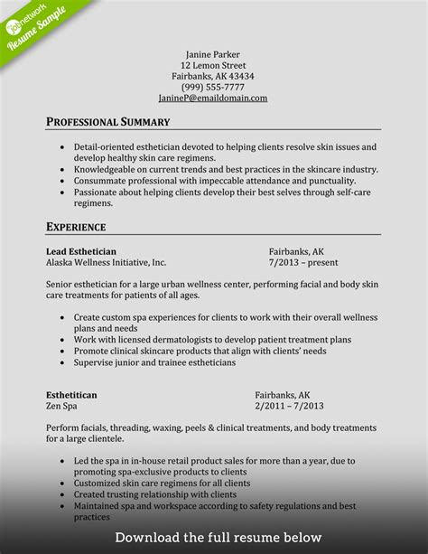 Esthetician Resume by How To Write A Cosmetology Resume Exles Included