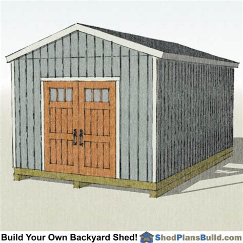 12 X16 Shed Plans by 12x16 Backyard Shed Plans