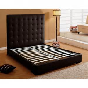Sophisticated platform bed with headboard leather bed headboard photos