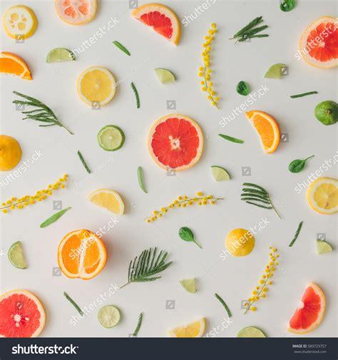 food pattern photography colorful food pattern made lemon orange stock photo