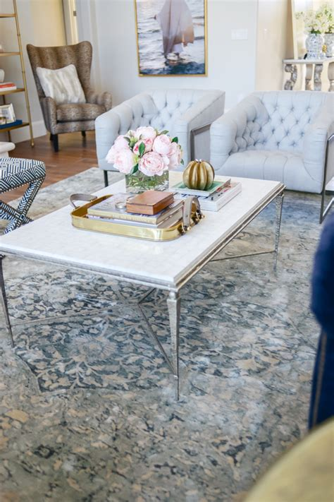 rachel parcell home living room reveal pink peonies by rach parcell