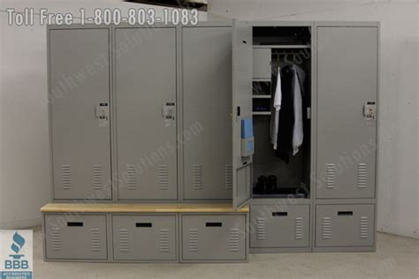 locker with bench police lockers bench drawer laminate wood locker