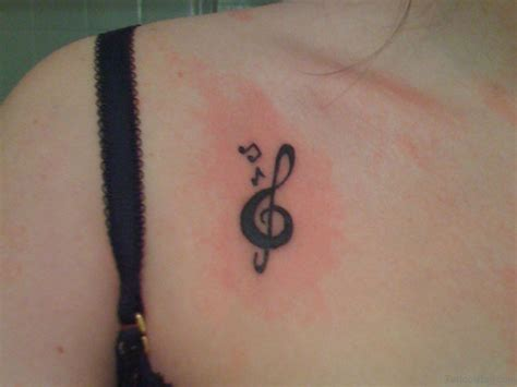small musical note tattoos 44 magnificent tattoos on chest