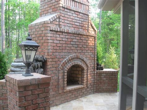 Stand Alone Outdoor Fireplace stand alone brick outdoor fireplace traditional
