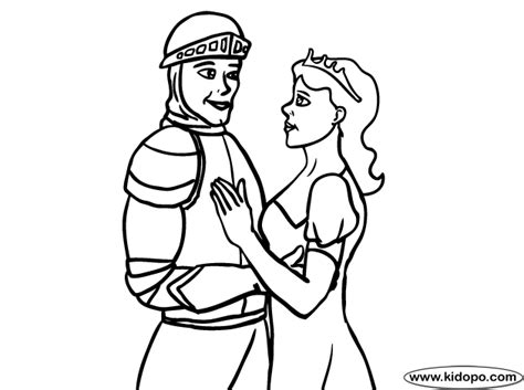 coloring pages knights and princesses princess knight coloring page