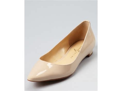 ivanka flats shoes ivanka flats annulio pointed toe in pink lyst