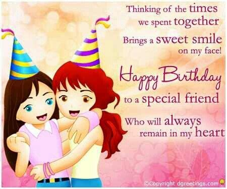 Happy Birthday To My Best Friend Card Happy Birthday Special Friend Happy Birthday Pinterest