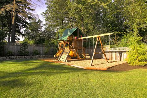 cool swing set cool little tikes swing set in landscape traditional with