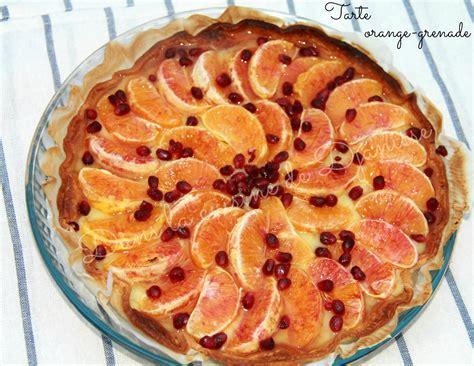 la cuisine m馘iterran馥nne tarte 224 l orange et 224 la grenade recette vegetalienne