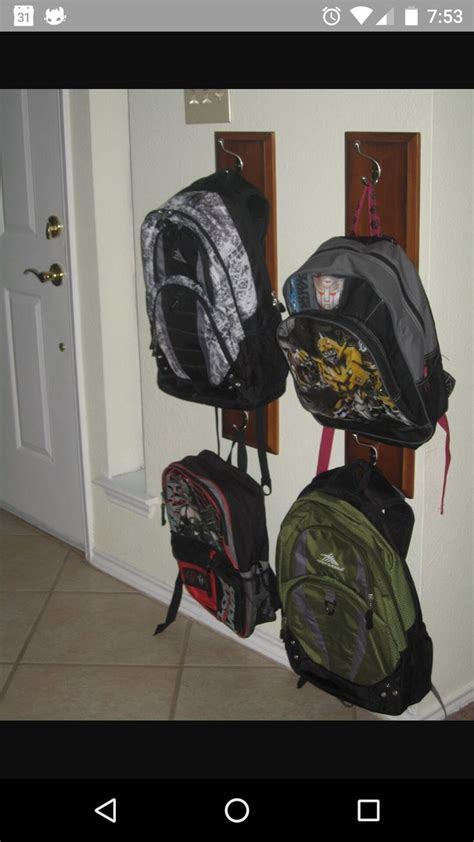 ideas for hanging backpacks 1000 ideas about backpack hanger on entryway