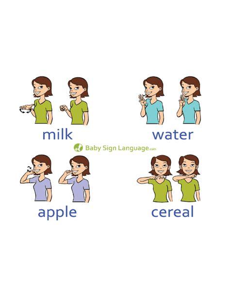 baby sign language chart basic baby sign language chart template free