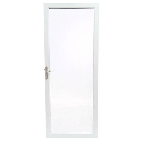 Andersen 4000 Door by Andersen 32 In X 80 In 2000 Series White Universal Fullview Aluminum Door With Nickel