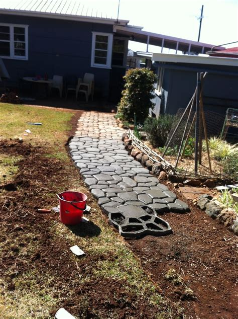 Patio Toowoomba by Diy Coblestone Paver Maker Paving New Path Toowoomba