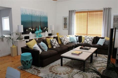 Brown And Turquoise Living Room Decor by Appealing What Color To Paint Living Room